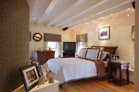 contemporary track lighting.  contemporary sleigh wed with nightstand and wall white brick plus dresser also led track  ceiling on contemporary lighting