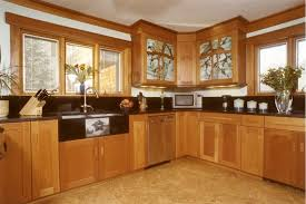 H Mahogany Kitchen Cabinets For Apartment