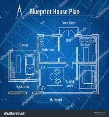 House Plan And Design Blueprint Blueprint House Plan Design Architecture Home Stock Vector