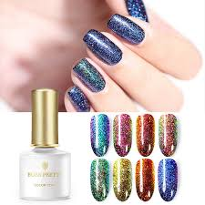 details about 6ml born pretty peacock gel holographic peacock diy nail soak off uv gel polish