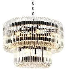 Casa Padrino Luxus Kronleuchter Bronze Klares Glas ø 80 X