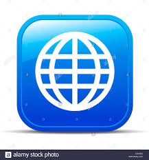 Apps Symbol Global Internet Button Icon App Apps World Blog Stock Photo