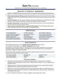 Project Manager Resume Associate Sample Dreaded Templates Senior Doc
