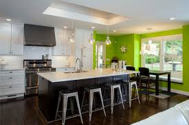 accent colours for grey kitchen