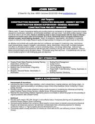 Construction Project Manager Resume Examples Techtrontechnologies Com