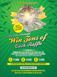 Raffle Ticket Poster Template Cash Raffle Green Flyer