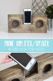 wooden phone amplifier speaker no cord or batteries needed