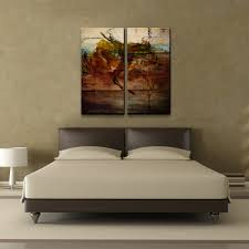 on 2 pc canvas wall art with ready2hangart earth tone abstract x 2 pc canvas wall art