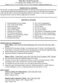 Other Resume For Police Officers Sales Officer Lewesmr
