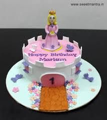 Disney Princess Castle Theme Small Customized Designer Fondant Cake