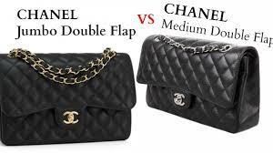chanel jumbo flap. chanel flap medium vs jumbo comparison d