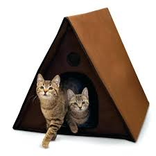 outdoor multiple kitty a frame heated cat shelter house uk multi