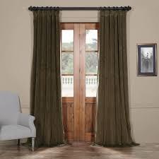 signature hunter green blackout velvet curtain  drapes