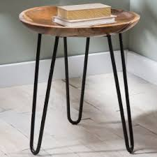 wood and iron furniture. teak wood and metal side table iron furniture