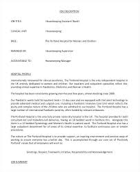 Laundry Supervisor Job Description Resume Waitress Duties Resume ...