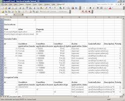Sample Excel Document Microsoft Excel File Format For Decision Tables
