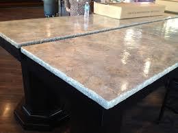 layers of color decorative concrete mica countertops