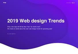 Modern Ux Design Trends Design Trends 2019 Web Ui Ux 3d Animation On Behance