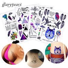 Glaryyears 3 Kslot Falešné černé Tělo Krk Zápěstí Tetování