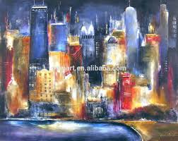 blue modern art styles famous painters paintings city buildings modern paintings for living room canvas painting