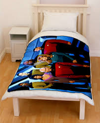 star trek next generation bedding throw fleece blanket creativgoods