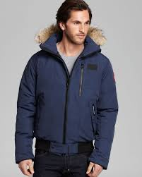 Lyst - Canada Goose Borden Bomber Parka with Fur Hood in Blue for Men