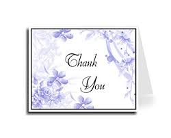 Thank You Cursive Font Amazon Com Artisan Decor Blue Floral Thank You Card Set Of