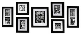 modern picture frames. Gallery Perfect 7-Piece Wide Frame Set, Black, Various Modern Picture Frames K