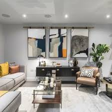 contemporary living room furniture. This Is An Example Of A Contemporary Formal Open Plan Living Room In London  With White Furniture