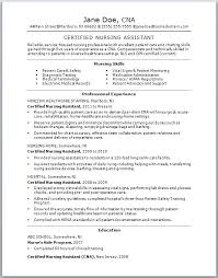 Nurse Assistant Resume Nurse Assistant Resume Sample Nursing ...