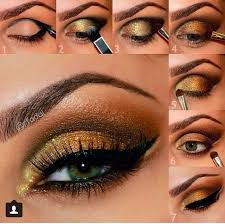 have a look at this bridal golden eyeshadow tutorial hope you like it