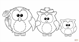 Small Picture Owl Family Coloring Page Family Coloring Page Free Printable Pages
