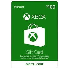 Microsoft Giftcard Microsoft Xbox Gift Card 100 Email Delivery