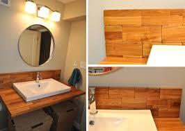 Timber Bathroom Accessories Mirrored Subway Tiles Retro Orange Subway Tile Bathroom