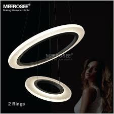 led ring lighting modern led ring chandelier light acrylic led chandelier suspension lighting fixture circle led