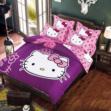 hello kitty polyester cotton duvet cover bed set