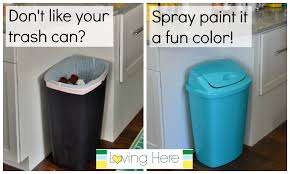 a trash can plan painting our plastic kitchen trash can