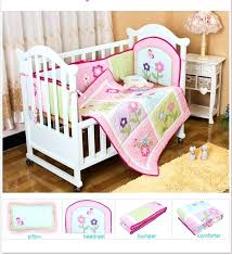 quilt baby bedding set girl cradle crib cot pillow per white