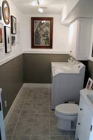 bathroom baseboard ideas. exellent small half bathroom ideas with white cabinets and baseboard plus wall art