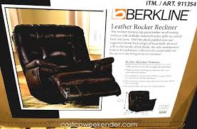 berkline leather rocker recliner chair stylish andfortable costco gaming best home decoration backpack beach chairs