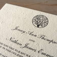 Black And White Invitation Paper Enchanted Tree Plantable Wedding Invitations