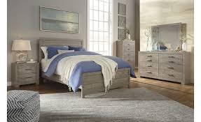 Ashley Culverbach Casual Panel Bed Set - Grey Wood