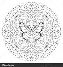 Kleurplaten Vlinders Topkleurplaatnl Mandala Kleurplaat With