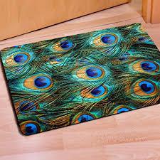 Fashion Peacock Door Mats Indoor Bathroom Kitchen Decor Rug  Mat,Indoor/Outdoor Floor Welcome