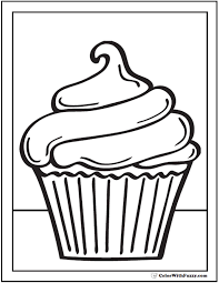 Small Picture 40 Cupcake Coloring Pages Customize PDF Printables Swirl