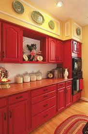 Impressionnant Meuble De Cuisine En Bois Rouge Décoration