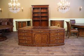 high end office desk. high end george iii executive desk with faux drawers on front office
