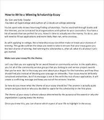 scholarship essay samples examples format to  winning scholarship essay sample