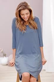 Light Blue 3 4 Sleeve Dress Shop Tchibo Womens Homewear Dress Light Blue For Clothing