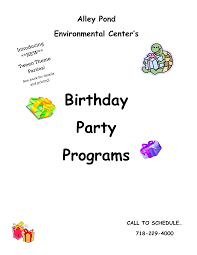 The size is 8.5in × 11in. Birthday Party Event Program Templates At Allbusinesstemplates Com